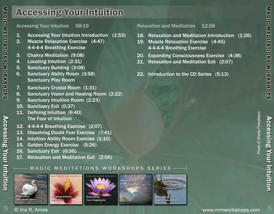 Accessing your intuition CD contents -back cover